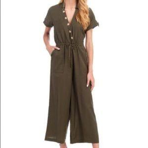 PATRONS OF PEACE green cotton jumpsuit size M